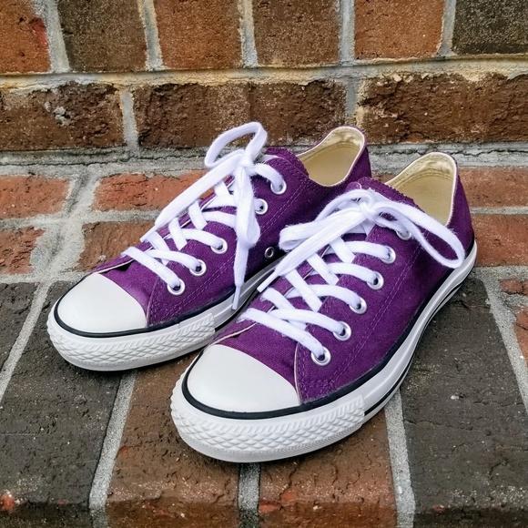 76fb2fefaf9a Converse Shoes - Converse All Star low grape purple shoes 8 womens